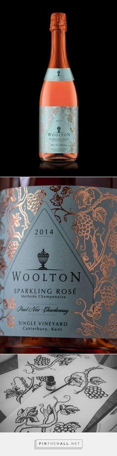 Woolton Sparkling Rosé   Wine Label Design, Illustration