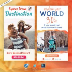 Travel vacation tourism instagram storie... | Premium Psd #Freepik #psd #banner
