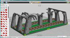 How big for a standard Lego-scale tunnel? Train Lego, Lego Pizza, Lego Bridge, Lego Track, Lego Winter Village, Train Tunnel, Lego Mecha, Lego Birthday Party, Lego Room