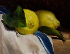 Julian Merrow-Smith | Two lemons, oil on board, 2012