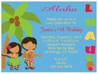 Aloha Luau Hawaiian  Birthday Party Invitations – Keepsake Imprints Online Store