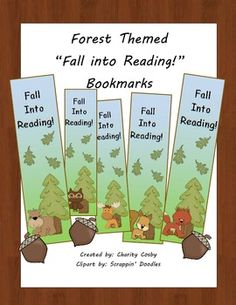 FREE! Forest themed bookmarks-5 Different Ones