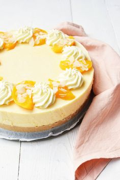 Perzik kwarktaart 6 No Bake Pies, No Bake Cookies, No Bake Cake, Sweets Cake, Cupcake Cakes, Cupcakes, Cheesecakes, Baking Bad, Pie Cake