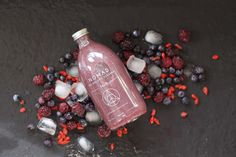 Berries goji blueberries blackberries juice cleanse