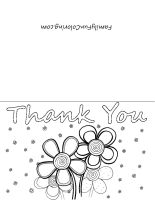 Activity Days November Printable Thank You Cards To Color
