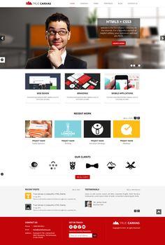 TrueCanvas - Responsive HTML5 Template by Golo Themes, via Behance