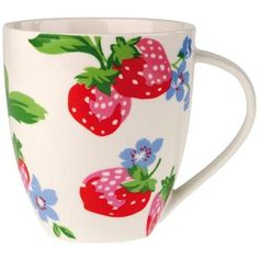 Cath Kidston Strawberries <3    My sister-in-law bought me the mug, my hubby bought me the pot to go with.