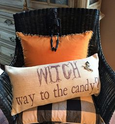 Halloween Pillow,Halloween decor,Thanksgiving pillow,give thanks,Halloween deocration,Halloween party gift,Fall pillow,Fall sign,Give Thanks - pinned by pin4etsy.com