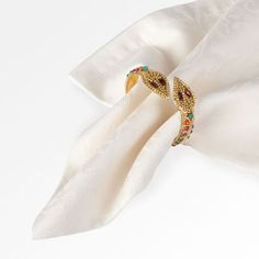 Snake gold jewels napkin ring £4.99 each from Zara Home