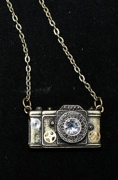 Beautiful steampunk camera music necklace by Foreverpeace on Etsy, $15.00