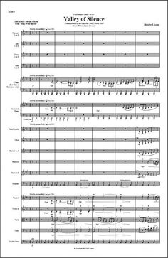 Valley of Silence for SATB Chorus and Orchestra Sound Files, Orchestra, Sheet Music, Music Score, Band, Music Sheets