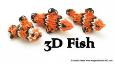 Rainbow Loom Fish/Crown Fish/Finding Nemo 3D Charm - How to