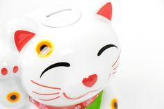 Maneki-Neko Lucky Cat Branco   A Loja do Gato Preto   #alojadogatopreto   #shoponline   referência 72928086