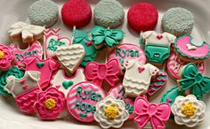 baby shower crystals and pearls cupcakes - Google Search