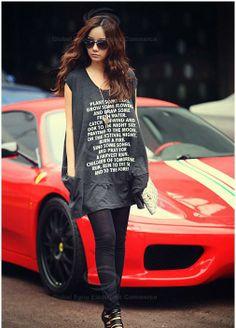 Loose-Fitting Slipover V-Neck English Print Double-Pocket Sleeveless Cotton T-Shirt For Women · teaSe. · Online Store Powered by Storenvy