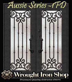 Wrought Iron Double Entry Door -  PREMIUM AUSSIE SERIES - LAS1FD - 1700 x 2070mm