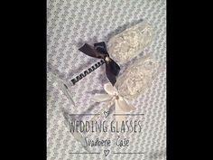 WEDDING GLASSES DIY   СВАДЕБНЫЕ БОКАЛЫ СВОИМИ РУКАМИ - YouTube