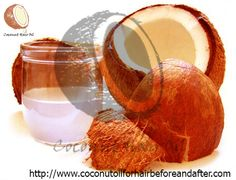 Pure coconut oil for hair before and after