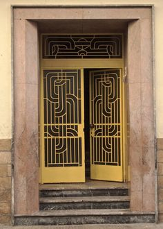 Moroccan art deco doorway, Casablanca