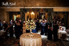 Cocktail hour in the Foyer of the Gold Ballroom at the Hotel du Pont!  Photo Credit: Faith West www.Hoteldupont.com/weddings Corporate Photography, At The Hotel, Video Photography, Delaware, Foyer, Photo Credit, Cocktails, Faith, Weddings