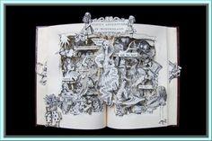 Alice in Wonderland  Book Sculpture  Altered Book by artfuliving, $220.00