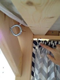 Curtain attachment to fort bed