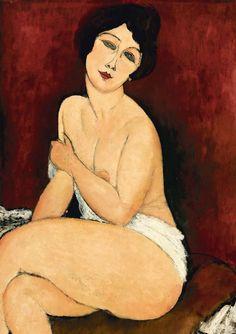 Amedeo Modigliani. Gran desnudo sentado