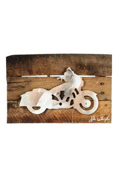 Harley Davidson Metal Art Reclaimed Wood Sign
