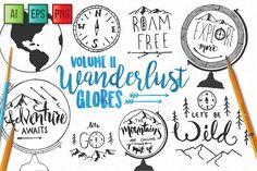 Adventure Globe Vector Pack by ECHOFOXX on @creativemarket