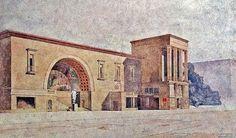 1935. Ликин. Проект корпуса студгородка в Лефортово.
