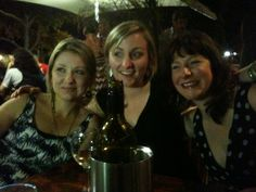 Iris, Caroline and Chloe, at the James Squire Pub at Darling Harbour, Sydney. Saturday 13 November 2010. This was while we were on our mentoring fortnight in Sydney before going live in PV world.