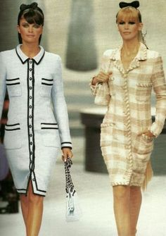Chanel Fashion show & more details - Chanel Dresses - Trending Chanel Dress for sales - Chanel Fashion show & more details Fashion 90s, Coco Chanel Fashion, Couture Fashion, Runway Fashion, Vintage Fashion, Fashion Outfits, Womens Fashion, Fashion Trends, Chanel Outfit