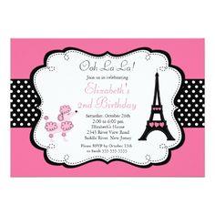 120 best paris birthday party invitations images on pinterest paris pink poodle birthday party invitations filmwisefo