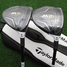 TaylorMade Golf M2 Fairway 3&5 Wood Matched SET Graphite REAX Extra Stiff X -NEW