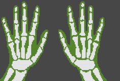 Contemporary Cross Stitch Kit 'Hands' Human Body by FredSpools
