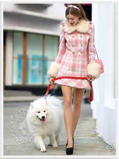 Warm Outfits, Fall Winter Outfits, Autumn Winter Fashion, Cute Outfits, Coats For Women, Jackets For Women, Clothes For Women, Doll Style, Style Lolita