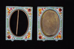 Micro Mosaic Vintage Frame matched Pair Italian by nancyfance
