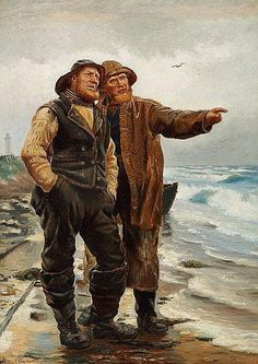 Two Fishermen, 1879 by Michael Ancher (Danish 1849-1927