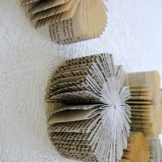 http://www.folksy.com/shops/Paperfaerie: book sculptures