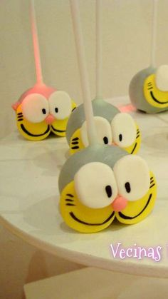Cat cake pops at a Birthday Party!  See more party planning ideas at CatchMyParty.com!