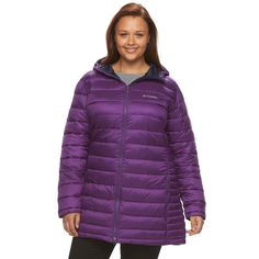 Plus Size Columbia Frosted Ice Hooded Puffer Jacket, Women's, Size:
