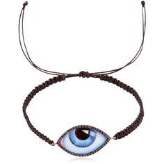 Lito Men Tu Es Partout Diamond Eye Bracelet (£1,260) ❤ liked on Polyvore featuring men's fashion, men's jewelry, men's bracelets, mens cord bracelets, mens watches jewelry, mens diamond bracelets and mens bracelets