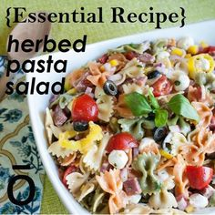 Pasta salad is a staple for outdoor events and is a great way to feed a lot of people without spending a lot of money. This delicious and tangy pasta salad is sure to please even the pickiest of eaters.
