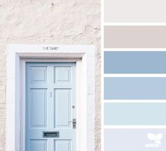A Door Tones via @designseeds Love the light, soft and warm feeling in this color palette!!
