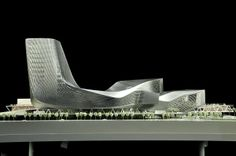 View of the Kaohsiung Port Terminal model by RUR Architecture