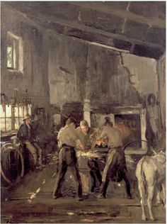 The Blacksmiths of Tramore   Sir John Lavery