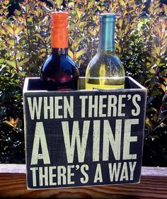 Wooden Two  Bottle Wine Carrier Sayings on Both by WordsofWisdomNH, $24.00