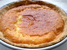 Buttermilk Chess Pie  1 1/2 cups sugar  2 tablespoons all-purpose flour  5 large eggs, lightly beaten  2/3 cup buttermilk  1/2 cup unsalted butter, melted  1 teaspoon vanilla  1 unbaked 9-inch pie crust    Preheat oven to 350.  Combine sugar and flour in a large bowl. Add eggs and buttermilk, stirring until blended. Stir in melted butter and vanila and pour into unbaked pie crust.Bake at 350 for 45 minutes or until set