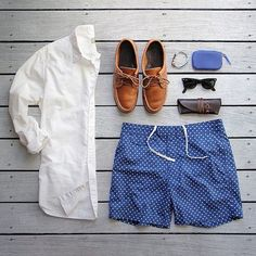 Men's outfit grid for summer - white oxford from Taylor Stitch