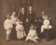 Collver Family    This photo shows Tillow and Carrie Colliver and their six children (listed in order from oldest to youngest):  Chester   Vernon  Gladys- 8  Gordon- 6  Enid- 4  Marshall- 5 ½ months